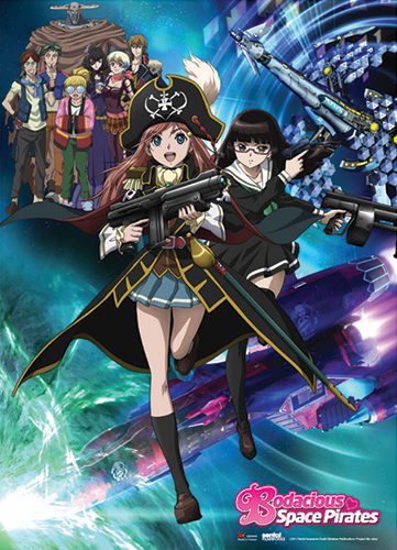 Bodacious Space Pirates Keyart Wallscroll, an officially licensed Bodacious Space Pirates product at B.A. Toys.