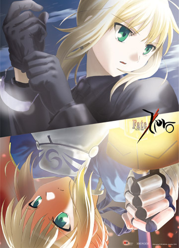 Fate/Zero Saber Wallscroll, an officially licensed Fate/Zero product at B.A. Toys.