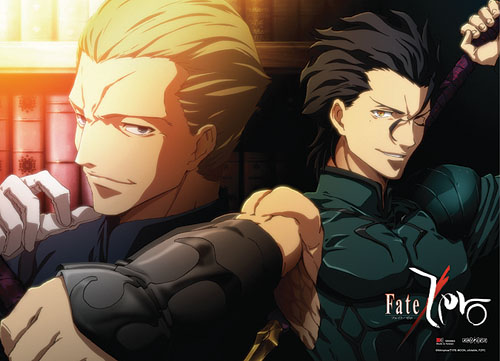 Fate/ Zero Lancer & Kayneth Wallscroll, an officially licensed Fate/Zero product at B.A. Toys.