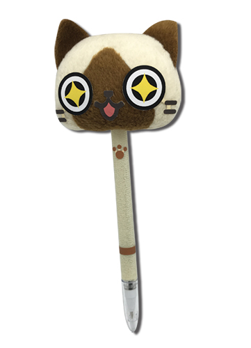 Monster Hunter - Airou Plush Pen officially licensed Monster Hunter Stationery product at B.A. Toys.