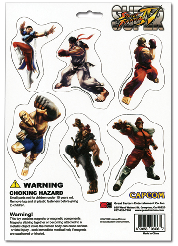 Street Fighter Iv Magnet Collection, an officially licensed product in our Street Fighter Magnet department.