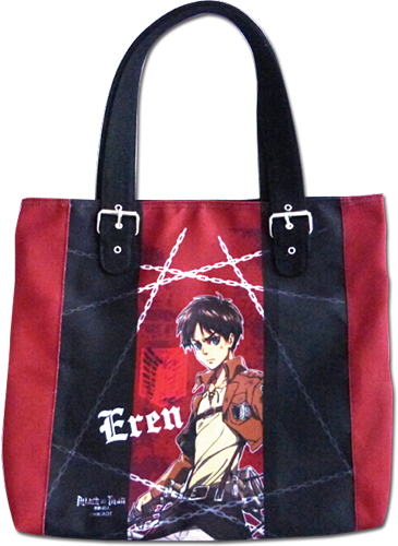Attack On Tittan - Eren Red Bag, an officially licensed Everything Else product at B.A. Toys.