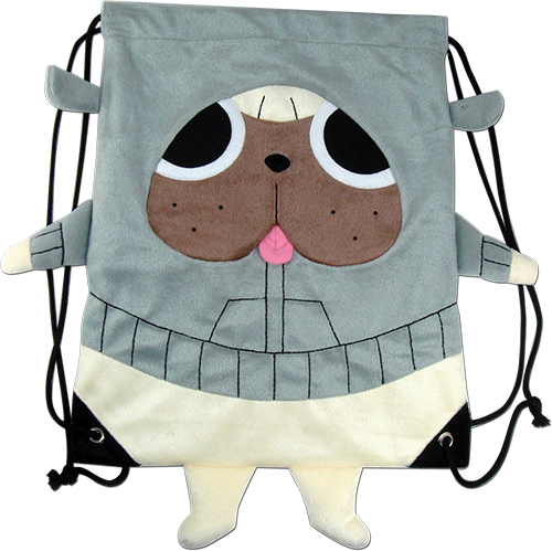 Kill La Kill - Gattsu Plush Drawstring Bag, an officially licensed product in our Kill La Kill Bags department.