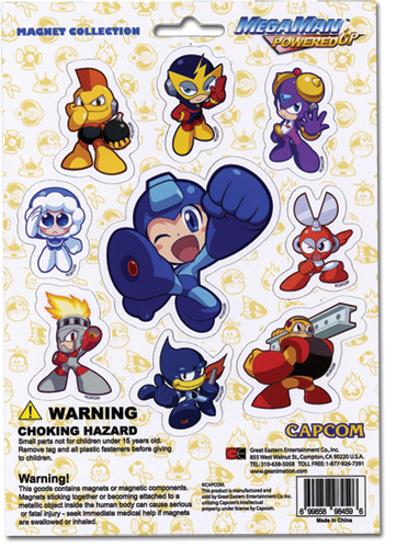 Megaman Powered Up Magnet Collection, an officially licensed product in our Mega Man Magnet department.
