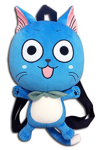 Fairy Tail - Happy Plush Bag 12.5'', an officially licensed product in our Fairy Tail Bags department.
