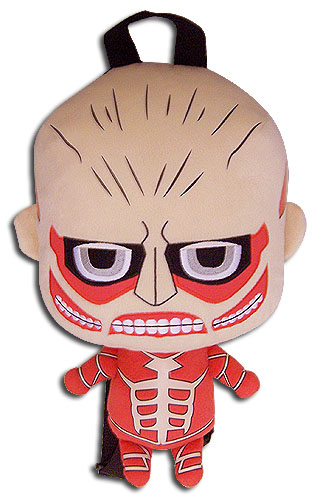 Attack On Titan - Titan 12.5'' Plush Bag, an officially licensed product in our Attack On Titan Bags department.