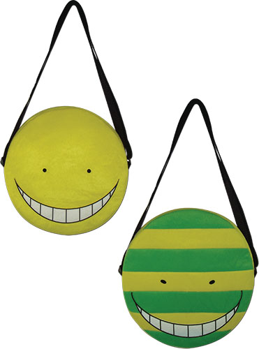 Assassination Classroom - Koro Sensei Face Plush Bag, an officially licensed product in our Assassination Classroom Bags department.