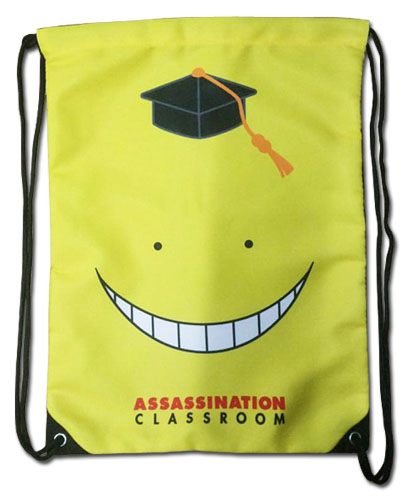 Assassination Classroom - Koro Sensei Drawstring Bag, an officially licensed product in our Assassination Classroom Bags department.