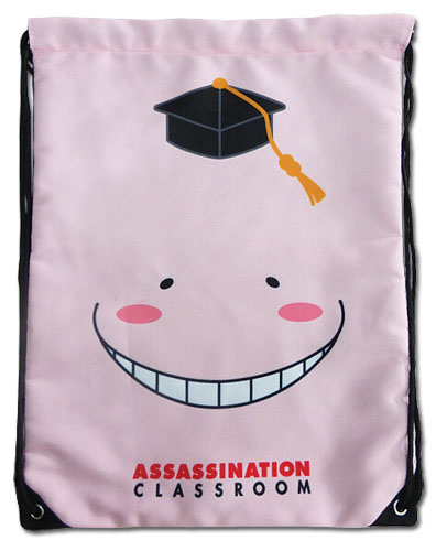 Assassination Classroom - Relax Koro Sensei Drawstring Bag, an officially licensed Assassination Classroom product at B.A. Toys.