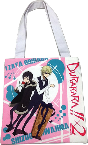 Durarara!! X2 - Lzaya & Shizuo Tote Bag, an officially licensed product in our Durarara!! Bags department.