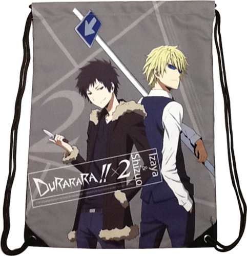 Durarara!!X2 - Izaya & Shizuo Drawstring Bag, an officially licensed product in our Durarara!! Bags department.