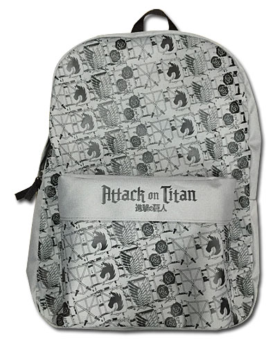 Attack On Titan - Emblems Backpack, an officially licensed Attack On Titan product at B.A. Toys.