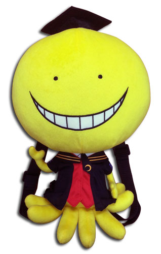Assassination Classroom - Koro Sensei Plush Bag 12.5, an officially licensed Assassination Classroom product at B.A. Toys.