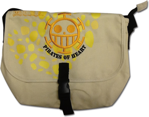 One Piece - Skull Heart Messenger Bag officially licensed One Piece Bags product at B.A. Toys.