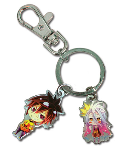 No Game No Life - Shiro & Sora Metal Keyhain, an officially licensed product in our No Game No Life Key Chains department.