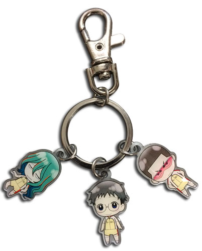 Yowamushi Pedal - Kinjou, Onoda & Makishima Metal Keychain, an officially licensed product in our Psycho-Pass Key Chains department.