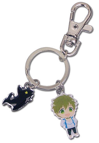 Free! - Sd Makoto & Icon Metal Keychain, an officially licensed product in our Free! Key Chains department.