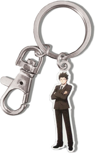 Assassination Classroom - Karasuma Metal Keychain, an officially licensed product in our Assassination Classroom Key Chains department.