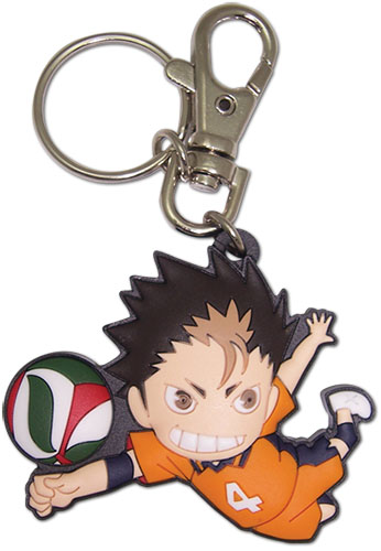 Haikyu!! - Sd Nishinoya Pvc Keychain, an officially licensed product in our Haikyu!! Key Chains department.