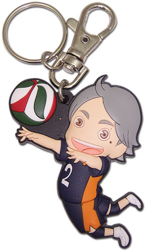 Haikyu!! - Sd Sugawara Pvc Keychain, an officially licensed product in our Haikyu!! Key Chains department.