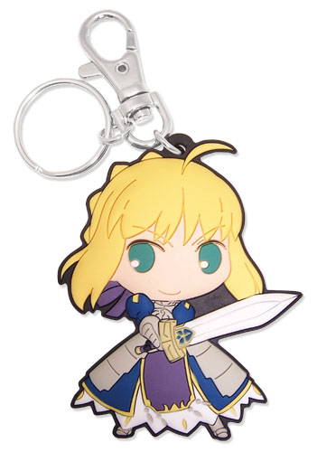 Fate/Stay Night - Saber Sd Pvc Keychain, an officially licensed product in our Fate/Zero Key Chains department.