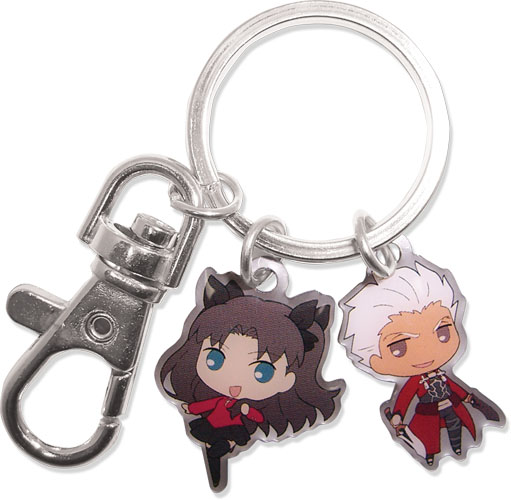 Fate/Stay Night - Archer & Rin Metal Keychain, an officially licensed product in our Fate/Zero Key Chains department.