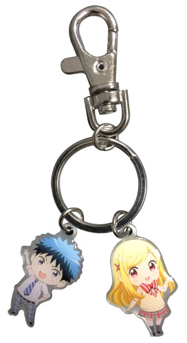 Yamada Kun And The Seven Witches - Yamada & Urara Sd Metal Keychain, an officially licensed product in our Yamada-Kun And The Seven Witches Key Chains department.