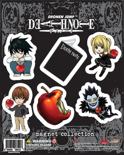 Death Note Sd Art Collection Magnet, an officially licensed product in our Death Note Magnet department.