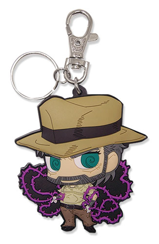 Jojo - Hermit Purple Sd Pvc Keychain, an officially licensed product in our Jojo'S Bizarre Adventure Key Chains department.