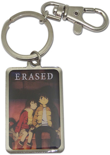 Erased - Hinazuki & Satoru Metal Keychain, an officially licensed product in our Erased Key Chains department.