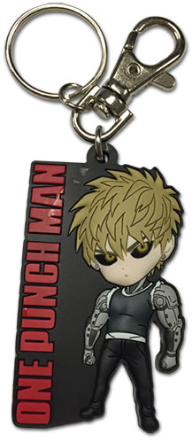 One Punch Man - Sd Genos Pvc Keychain, an officially licensed product in our One-Punch Man Key Chains department.