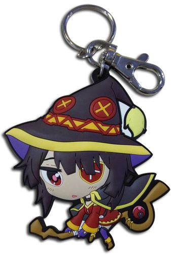 Konosuba - Sd Megumin Pvc Keychain, an officially licensed product in our Konosuba Key Chains department.
