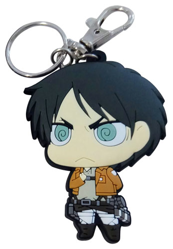 Attack On Titan - Sd Eren Dedicate Stance Pvc Keychain, an officially licensed product in our Attack On Titan Key Chains department.