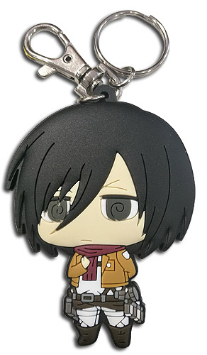 Attack On Titan - Sd Mikasa Dedicate Stance Pvc Keychain, an officially licensed product in our Attack On Titan Key Chains department.