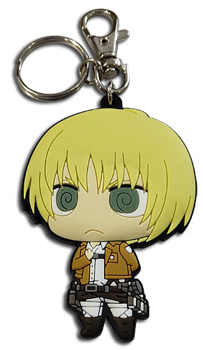 Attack On Titan - Sd Armin Dedicate Stance Pvc Keychain, an officially licensed product in our Attack On Titan Key Chains department.