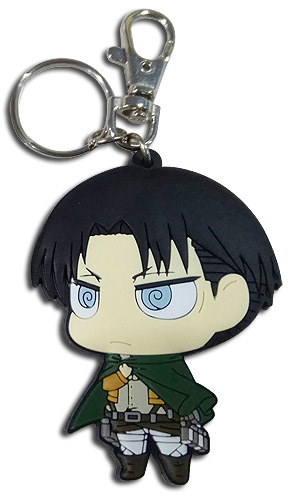 Attack On Titan - Sd Levi Dedicate Stance Pvc Keychain, an officially licensed product in our Attack On Titan Key Chains department.