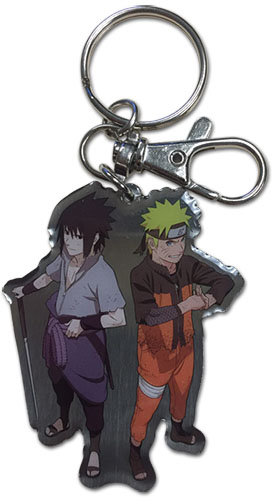 Naruto Shippuden - Naruto & Sasuke Metal Keychain, an officially licensed product in our Naruto Shippuden Key Chains department.