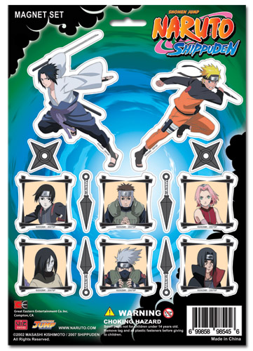 Naruto Shippuden Magnet Collection Set, an officially licensed product in our Naruto Shippuden Magnet department.