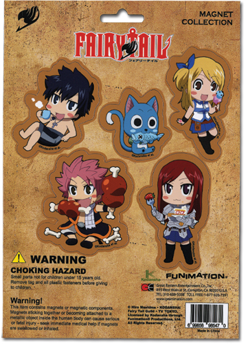 Fairy Tail Magnet Collection, an officially licensed Fairy Tail Magnet
