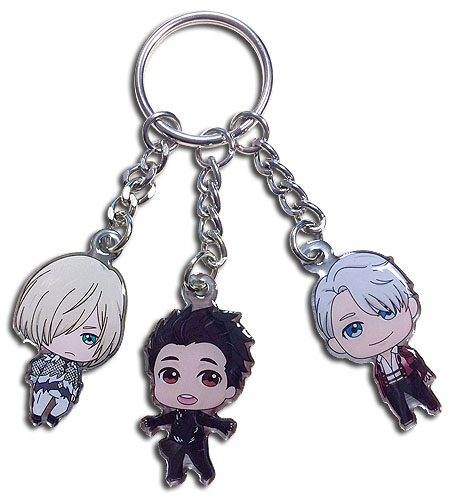 Yuri On Ice!!! - Yuri, Victor, Yurio Sd Metal Keychain, an officially licensed product in our Yuri!!! On Ice Key Chains department.