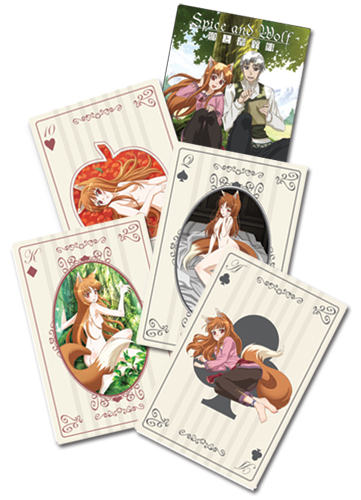 Spice And Wolf Holo Playing Cards, an officially licensed product in our Spice & Wolf Playing Cards department.
