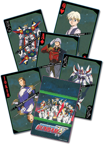 Gundam Wing Playing Cards, an officially licensed product in our Gundam Wing Playing Cards department.