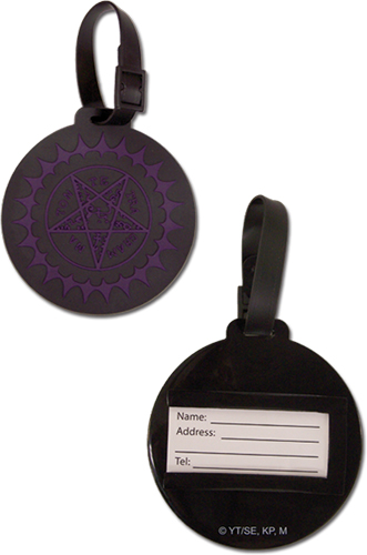 Black Butler - Pentacle Luggage Tag officially licensed Black Butler Costumes & Accessories product at B.A. Toys.