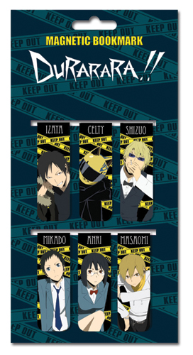 Durarara!! Magnetic Bookmarks, an officially licensed Durarara Stationery