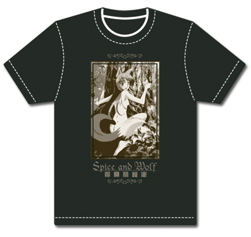 Spice And Wolf Holo Hug T-Shirt L, an officially licensed product in our Spice & Wolf T-Shirts department.