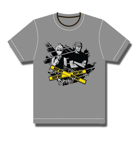 Durarara!! Shizuo And Simon T-Shirt L officially licensed Durarara!! T-Shirts product at B.A. Toys.