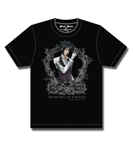 Black Butler Sebastian Slogan T-Shirt L, an officially licensed product in our Black Butler T-Shirts department.