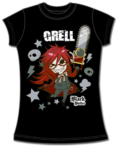 Black Butler Sd Grell Jrs T-Shirt L, an officially licensed Black Butler product at B.A. Toys.