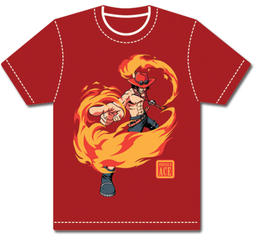 One Piece Ace T-Shirt XL, an officially licensed product in our One Piece T-Shirts department.