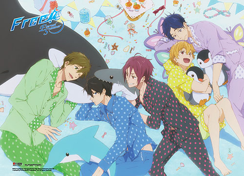 Free! 2 - Slumber Party Wall Scroll, an officially licensed product in our Free! Wall Scroll Posters department.